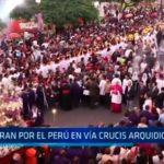 Oran por el Perú en vía crucis arquidiocesano