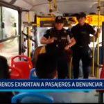Serenos exhortan a pasajeros a denunciar asaltos