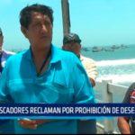 Pescadores reclaman por prohibición de desembarque