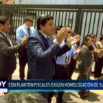 Chimbote: Con plantón fiscales exigen homologación de sueldos