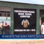 Chiclayo: Se han detectado quince puntos críticos en JLO