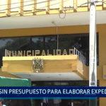 Piura: Municipio sin presupuesto para elaborar expedientes técnicos de obras