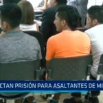 Dictan prisión para asaltantes de microbús