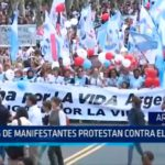 Argentina: Miles de manifestantes protestan contra el aborto