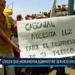 Chimbote: Exigen que hidrandina administre servicio en Cascajal