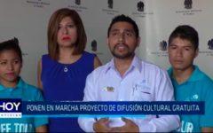 Ponen en marcha proyecto de difusión cultural gratuita