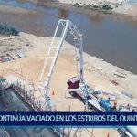 Piura: Vaciado del estribo izquierdo del quinto puente terminara a  fin de  mes