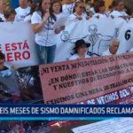 México:  A seis meses de sismo danmificados reclaman ayuda
