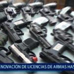 Piura: Renovación de licencias de armas será hasta Julio