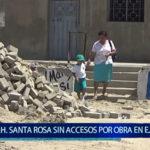 Piura: Piden habilitar  accesos tras obra de agua y alcantarillado en calles de Santa Rosa