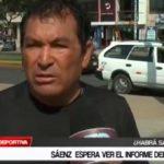Santos Sáenz  espera ver el informe del arbitro