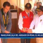 Inauguran sala de abogado en penal El Milagro