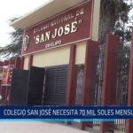 Chiclayo: Colegio San José necesita 70 mil soles mensuales
