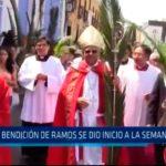 Con la bendición de monseñor se dió inicio a la semana santa