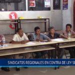 Chiclayo: Sindicatos regionales en contra de ley servir