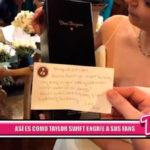 Internacional: Taylor Swift obsequia a una pareja de esposos con un detalle por el día de su boda