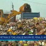 Retiran 20 toneladas de basura de penal El Milagro