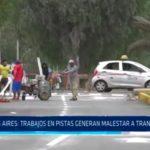 Trabajos en pistas generan malestar a transportistas