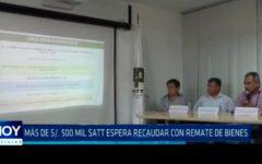 Más de S/. 500 mil  SATT espera recaudar con remate de bienes