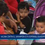 Vacuna contra el sarampión está disponible en Hospitales