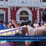 Vecinos de mampuesto reclaman obras de reconstrucción