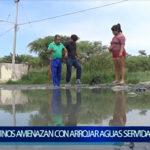 Piura: Vecinos de Nueva Esperanza amenazan con arrojar aguas servidas al municipio