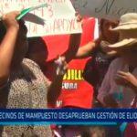 Vecinos de Mampuesto desaprueban gestión de Elidio Espinoza