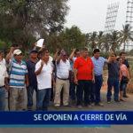Piura: Se oponen a cierre de vía