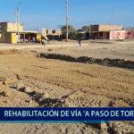 Piura: Rehabilitación de vía se hace a paso de tortuga