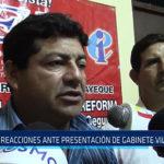 Chiclayo : Reacciones ante presentación de gabinete Villanueva