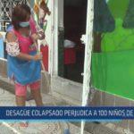 Chiclayo : Desagüe colapsado perjudica a 100 niños de inicial