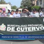 Chiclayo : Piden no se cierre filial de universidad en Cutervo