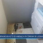 Chiclayo : Denuncian acto de amenaza en comuna de Leonardo Ortiz