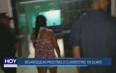 Chiclayo : Desarticulan prostíbulo clandestino en Olmos