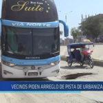 Chiclayo : Vecinos piden arreglo de pista de urbanización