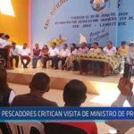 Chiclayo : Pescadores critican visita de Ministro de Producción