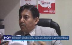 Chiclayo : Defensoría sensibilizará a escolares en caso de violencia sexual