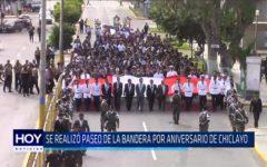 Chiclayo: Se realizó paseo de la bandera por aniversario de Chiclayo