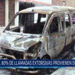 Chiclayo: El 80% de llamadas  extorsivas provienen del penal