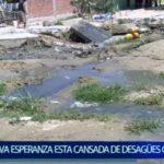 Piura: Nueva Esperanza esta cansada de desagües colapsados