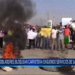 Chiclayo: Pobladores bloquean carretera exigiendo servicios de saneamiento