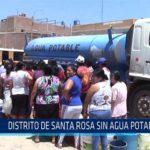 Chiclayo: Distrito de Santa Rosa sin agua potable