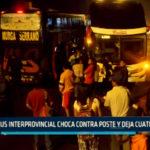 Chimbote: Bus Interprovincial choca contra poste y deja cuatro heridos