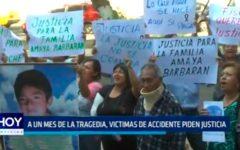 A un mes de la tragedia, victimas de accidente piden justicia