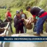 Pallasca:  Cinco personas fallecieron en accidente