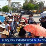 Piura: Bloquean avenidas por falta de agua