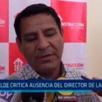 Alcalde critica ausencia del director de la ARCC
