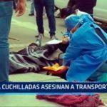 Asesinan a cuchilladas a transportista