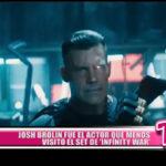 """Josh Brolin fue el actor que menos visitó el set de """"Infinity War"""""""