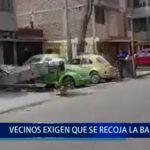 Piura: Vecinos exigen que se recoja la basura